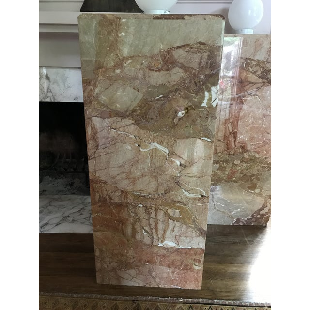 1980s Custom Vintage Monumental Marble Pedestal Lamps - a Pair For Sale - Image 4 of 11