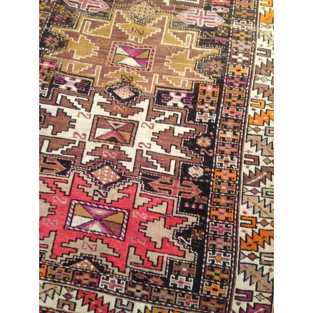 "Funky 1920s Russian Area Rug, 3'6"" X 4'9"" - Image 7 of 10"