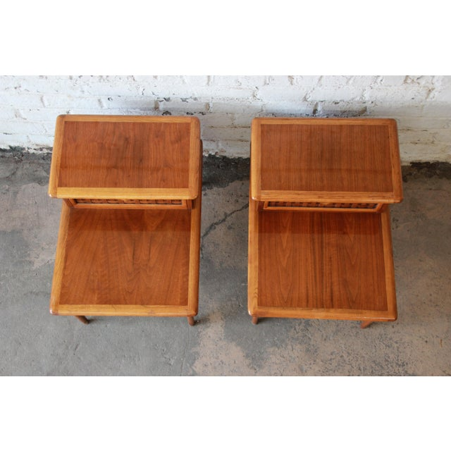 Mid-Century Lane Step End Tables - a Pair - Image 5 of 10