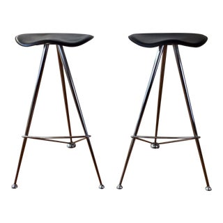 1950s Minimalist Space Cowboy Barstools - a Pair For Sale
