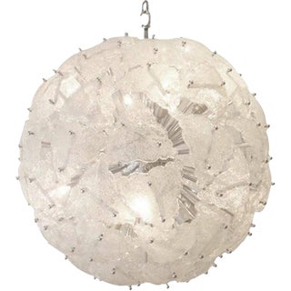 Mazzega Very Large-Scale Mid-Century Glass Sputnik Chandelier Italy circa 1960 For Sale