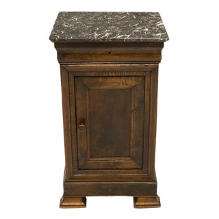 1840 Traditional Louis Philippe Period Walnut Bedside Table For Sale