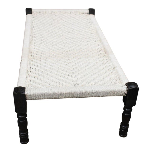 Vintage Handcrafted Rope Daybed For Sale