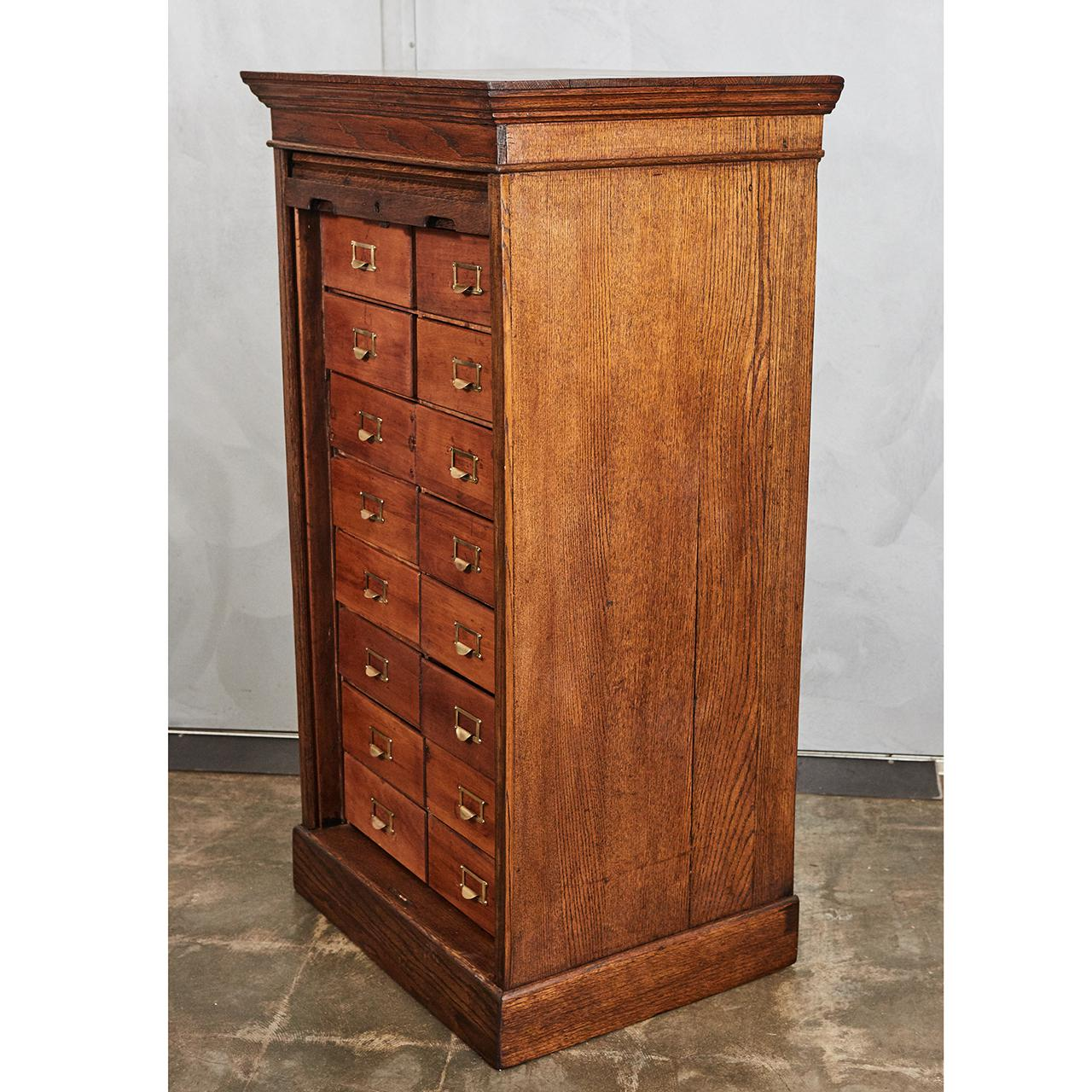 Roll Front Card File Cabinet Circa 1900 For Sale In Los Angeles   Image 6 Of