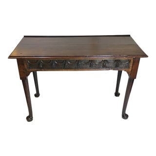 18th Century English Carved Hall Table For Sale