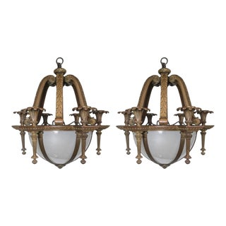 Antique Caldwell Chandeliers - a Pair For Sale