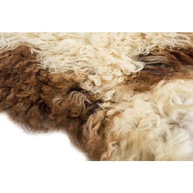 "Contemporary Contemporary Long Wool Sheepskin Pelt/Handmade Rug - 2'0""x3'2"" For Sale - Image 3 of 6"