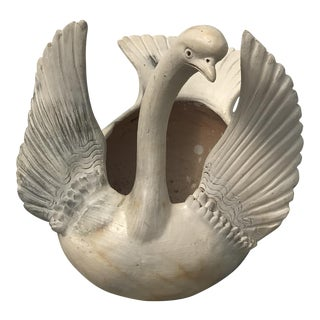 Vintage Ceramic Swan Planter