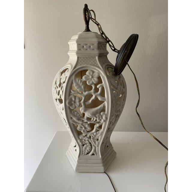Chinoiserie Porcelain Pendant Light For Sale - Image 4 of 12
