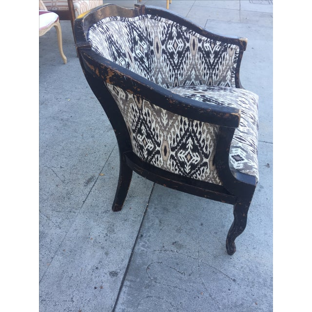 Mid-Century Modern Distressed Wood Side Chair For Sale - Image 3 of 5