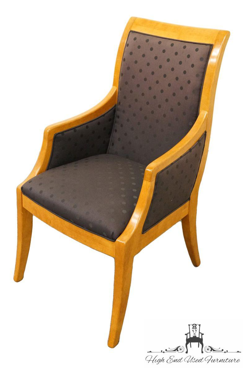 Hickory White Genesis Collection Dining Arm Chair Featuring An Upholstered  Seat. Matching Chairs Without Arms