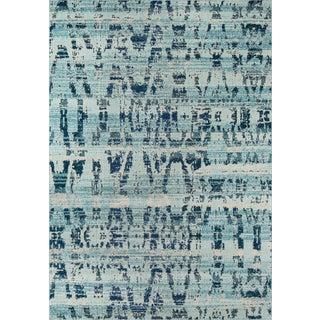 "Momeni Casa Polypropylene Ocean Blue Area Rug - 7'10"" X 9'10"" For Sale"