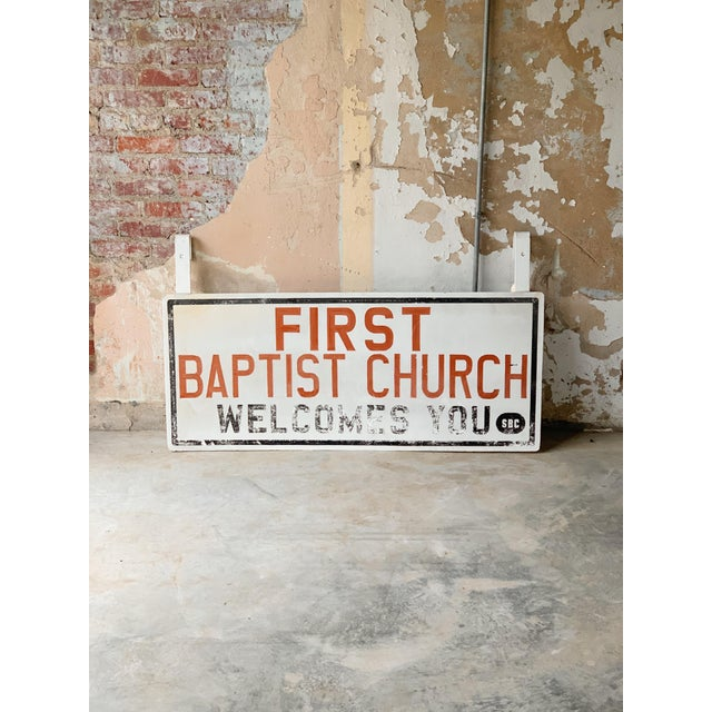 Vintage Church Sign For Sale - Image 4 of 4