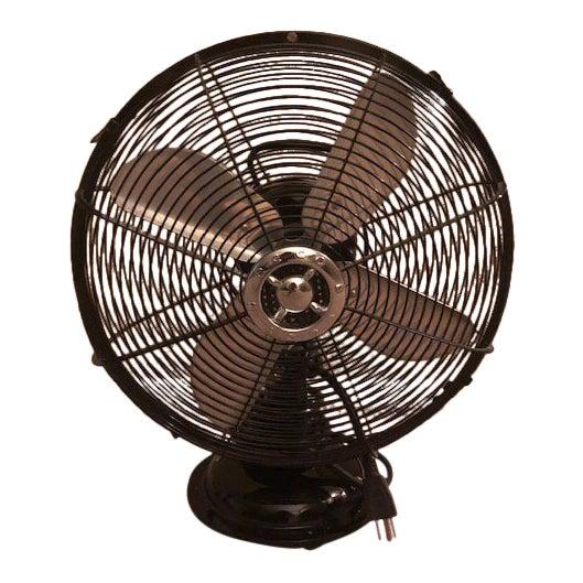 Ecco Industrial Black Table Fan For Sale