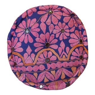 Pink Daisy Mathuravati Pouf For Sale