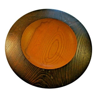 Nick Cook Ash Wood Turned Bowl Signed and Dated 1996 For Sale
