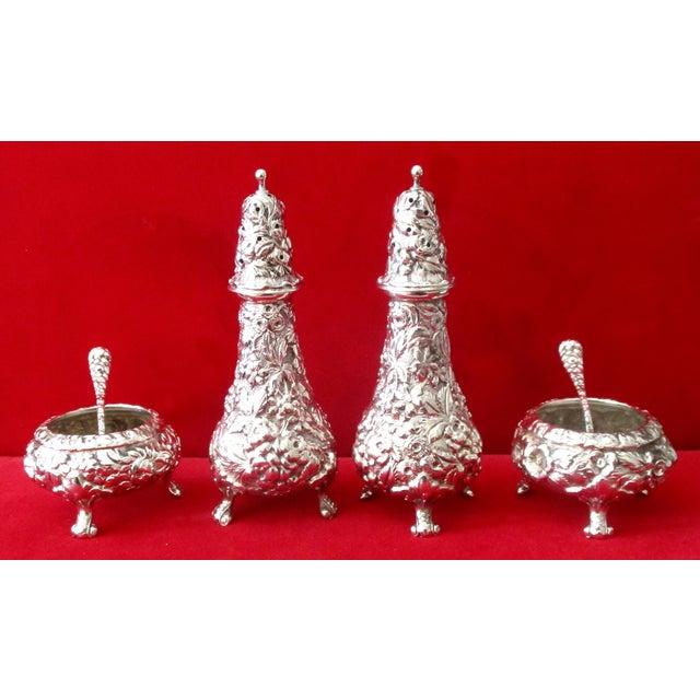 Stieff Rose-Pattern Salt & Pepper Set - Set of 4 - Image 7 of 11