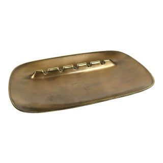 Mid-Century Modern Brass Ashtray by Ben Seibel For Sale
