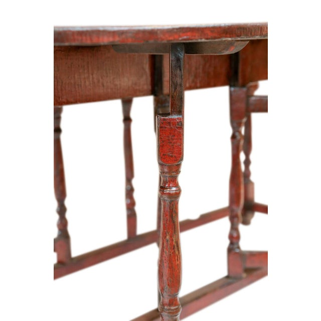 Red Lacquered English Table For Sale - Image 12 of 13