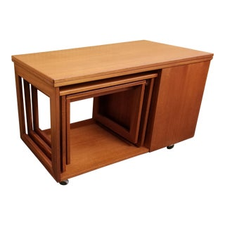 "McIntosh Mid-Century Modern ""Tristor"" Teak Nesting Coffee Table - 3 Pc. Set"