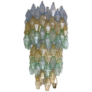 Chandelier Carlo Scarpa Venini Murano Polyhedron Glass, Italy, 1960s For Sale