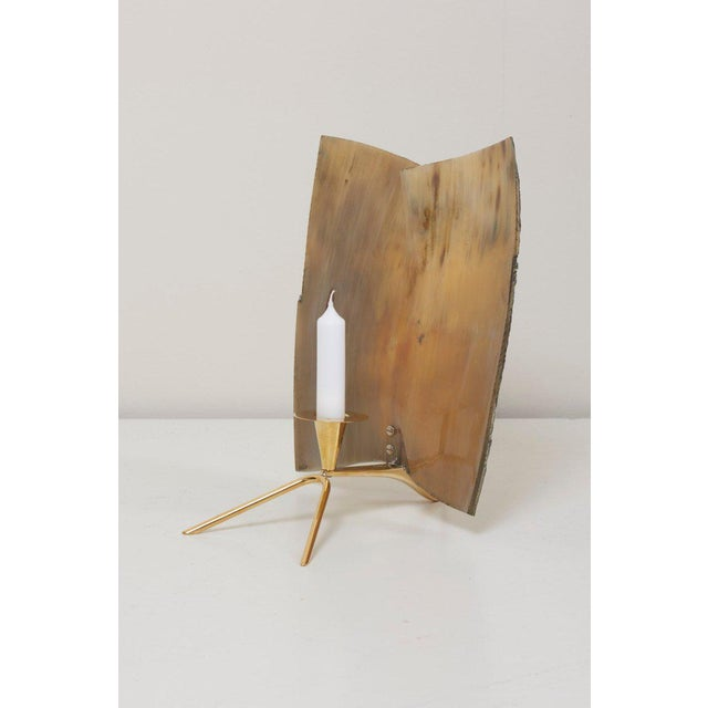 Carl Auböck Horn Lamp Candle Lamp For Sale - Image 6 of 11