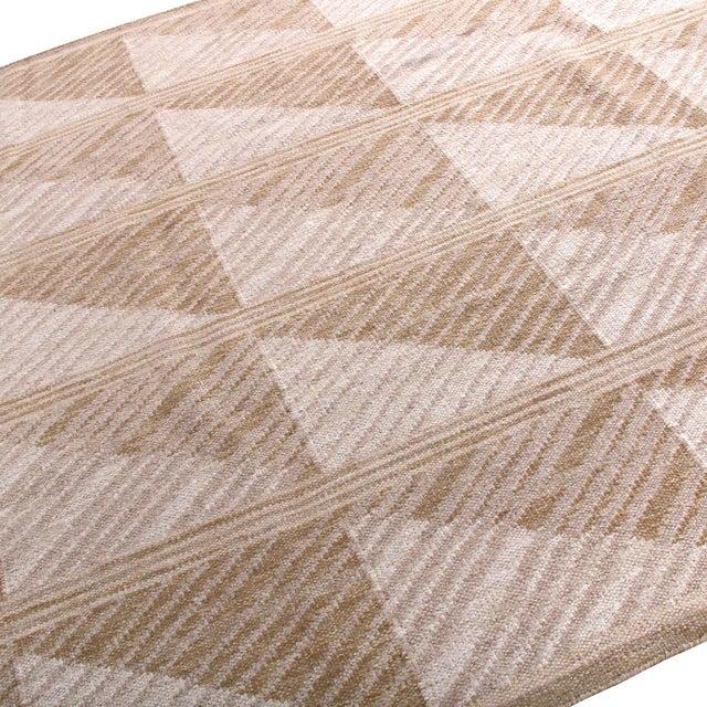 Rug & Kilim Scandinavian Style Geometric Beige Brown Wool Kilim Rug For Sale - Image 4 of 6