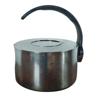 1970s Vintage Dansk Stainless Steel Modernist Kettle by V. Lorenzo Porzelli For Sale