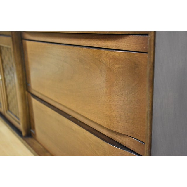 Mid-Century Walnut and Formica Credenza - Image 11 of 11