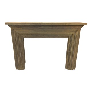 Antique Natural Wood Fireplace Mantle