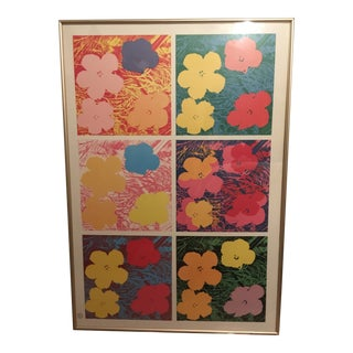 "Late 20th Century Andy Warhol Foundation Pop Art ""Flowers"" Framed Poster For Sale"