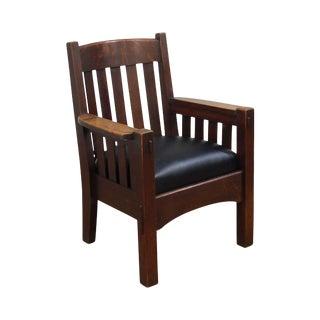 Harden Antique Mission Oak Armchair For Sale