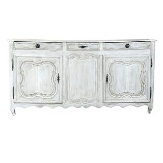 18th Century Country French Whitewashed Buffet