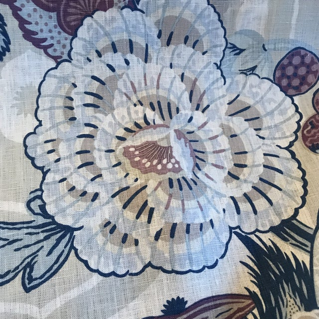 "Schumacher ""Zanzibar"" Hyacinth Linen Fabric - 4 Yards For Sale - Image 10 of 11"