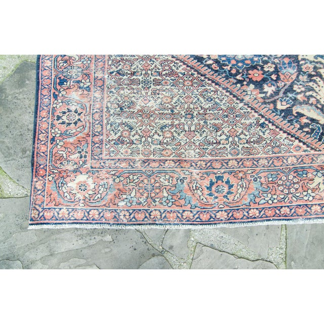 """House of Séance - 1920s Vintage Mahal Geometric Medallion Wool Hand-Knotted Rug - 8'6"""" X 11'7"""" For Sale In Los Angeles - Image 6 of 11"""