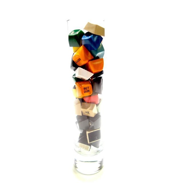 Folk Art TV Character Generator Keyboard Key Sculpture In Glass. Circa Mid-20th Century. For Sale - Image 3 of 5