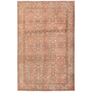 Antique Persian Floral Tabriz Rug For Sale