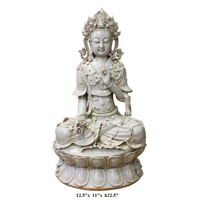 Tong Style Porcelain Kwan Yin Tara Bodhisattva Statue - Image 7 of 7