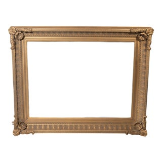 1970s Tarnished Gold Picture Frame For Sale