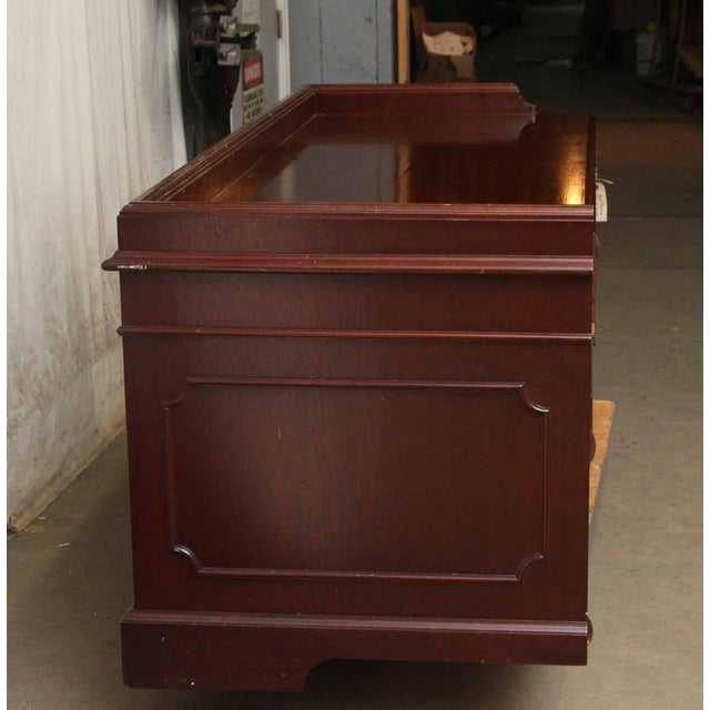 20th Century Traditional Wooden Counter Executive Desk For Sale - Image 10 of 11