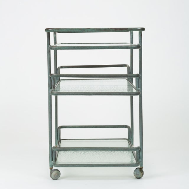 Gray Richard Frinier Bronze Bar Cart for Brown Jordan For Sale - Image 8 of 13