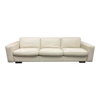 Italian Gamma Kelly Leather Sofa For Sale