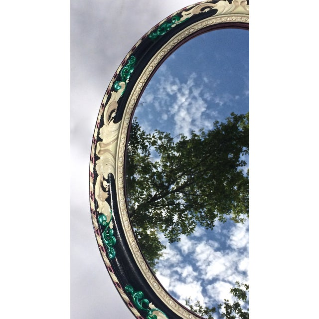 Antiqued Oval Mirror - Image 3 of 4
