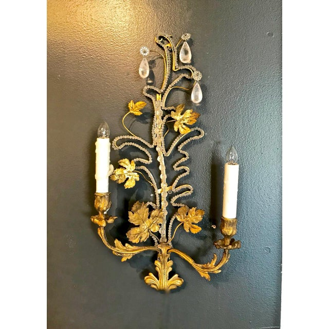 Pair Bagues-Style Beaded Sconces For Sale - Image 4 of 8