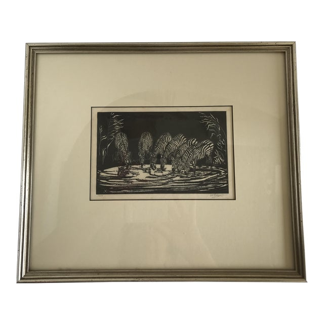 1928 Signed Zebra Lithograph - Image 1 of 10