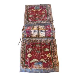 "Antique Armenian Carpet Saddle Bag Rug - 3'11"" x 1'7"""