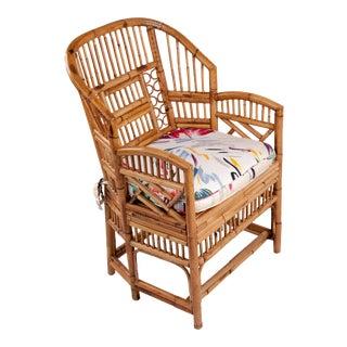 Mid-Century Six-Leg Rattan Armchair For Sale