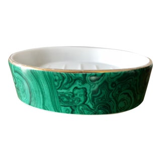 Vintage Neiman Marcus Malachite Soap Dish For Sale
