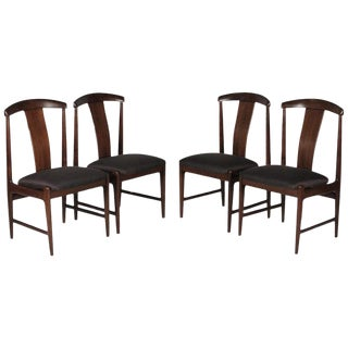 1950s Vintage Folke Ohlsson for Dux Teak Chairs- Set of 4 For Sale