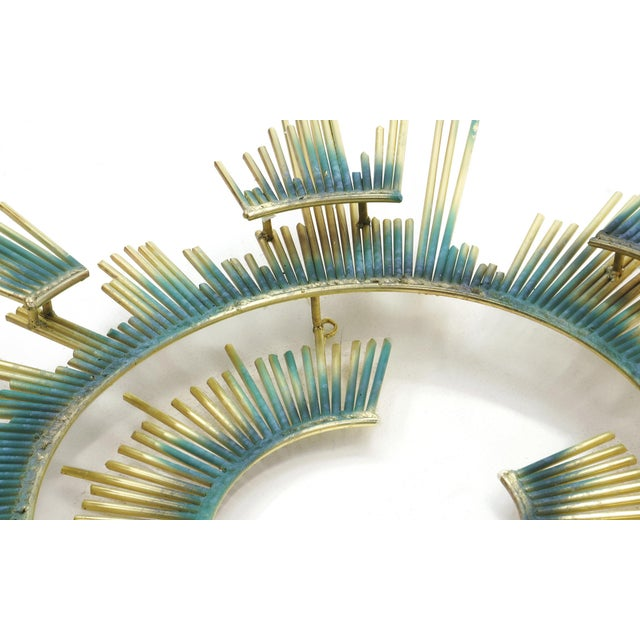 Curtis Jere Curtis Jere Wall Sculpture, Brass and Applied Patina For Sale - Image 4 of 5